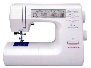 Janome DE-5124, Decor, Excel Pro, Precise, Consistent Professional Sewing Machine, 24 Stitch, 1-Step Buttonhole, Drop-in Bobbin, Needle Stop Down, Janome, DE 5124, 24 Stitch, Decor Excel Pro, Biggest, Mechanical, Sewing Machine, 1 Step Buttonhole Speed Limit,  Needle Up Down, Threader, Top Bobbin, Drop Feed, hard Case. 7 feet
