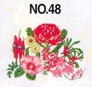 Brother SA348 No. 48 Australian Flowers Embroidery Card