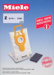 Miele Intensive Clean Type Z Dustbags for S170 thru S185 Series Upright Vacuums