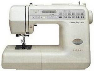 Janome Memory Craft MC3000 FS 31/ 80 Stitch Computer Sewing Machine MC3000, 3x1Step Buttonholes, Threader NeedleUpDown, 12Feet, HardCaseCover SERVICED
