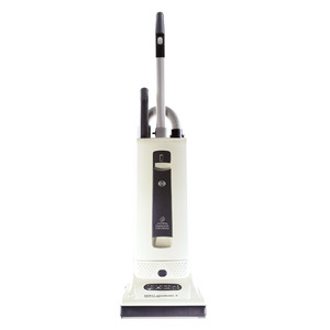 SEBO Automatic X4 9570AM, 10 Year Extended Warranty! White Gray Upright Vacuum Cleaner, 1300W, 10A, Auto Electronic Height Adj, Life Belt, Germany