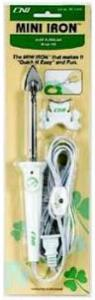 "Clover, MCI-900, Mini Craft, 1"" Iron, & Stand, Applique, Quilting, Bias, Sealing, Variable Temperature, 10 Second Heat Up, Easy Glide Sole Plate, 8' foot Cord, On Off Switch, 3 Oz"