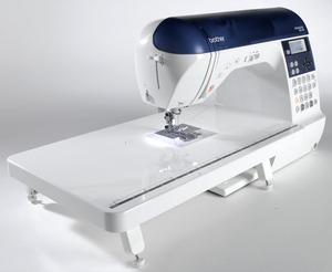 Brother, NX450Q, NX-450, 294 Stitch, Computer Sewing Machine, NX450, 3 Alphabets, 10 Buttonholes, Custom Stitch Digitizing, Thread Trimmers, Ext Table