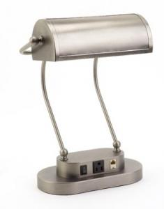 Verilux VD06NA1 Antiqued Nickel Princeton Executive Desk Lamp
