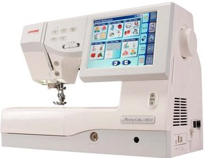 Janome MC11000, 1.0 Sewing Quilting Embroidery Machine, mc110000machine , Janome MC11000, Janome 11000 2.0* 25/10YrExtWnty Sew Quilt Emb Machine 358Stitch 170Design 24Stippling AcuFil 3Hoop JumpStitch 10Font 13BH ThreadTrim AcuSeam 12Ft DVD