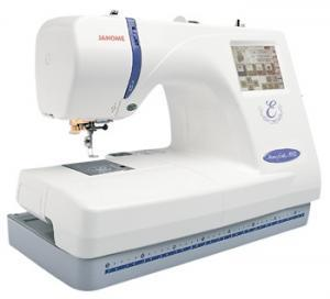 Janome, Memory Craft, MC300E,   Embroidery Only, 300E,   Factory Serviced, 25/5Yr Ext Wnty, Janome MC300E, FS Embroidery Machine 300E, 5.5x7.9&quot;, &amp; 4.3&quot; Hoop, PC Link, Card Port, 100 Designs, 3 Fonts, Resize, Rotate, Trace, Zoom, Count, 650SPM, 25/5Yr Ext Wnty