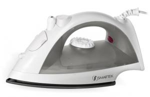"Smartek ST-1200 Steam, Burst & Dry Iron ST1200, 10.5x5.5x4.5"", 1200W, Titanium Coated Non Stick Soleplate, Variable Temperature, Water Spray Mist"