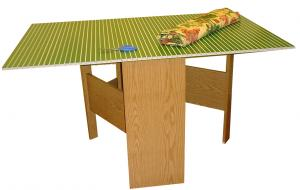 "Arrow 98602, Pixie, Grass Green, Fabric Cutting Table, RTA, Honey Oak Base, Cutting Mat, Opens 59-1/4""W x 36""D x 32-5/16""H, Closes to 14-5/16"" wide x 36"""