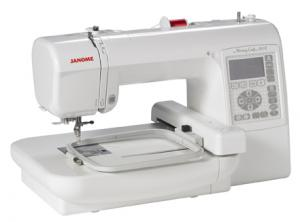 "Janome, Memory Craft, MC200E, 5 x 5"" inch Hoop, & Grid, Embroidery Machine, MC 200E, 73 Designs, 3 Fonts, USB  MEMORY STICK DRIVE, 650SPM, 25/10 Yr Ext Warranty"