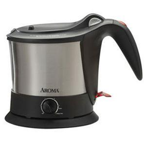 Aroma AWK-160SB Pasta Plus Electric Kettle, 1.06quart Capacity Cool Touch Handle, Cordless, Temperature Knob