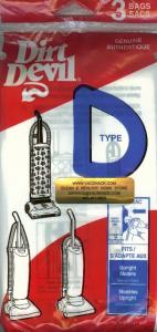 Dirt Devil  Vacuum Cleaner Type D Bags - 3 Pack