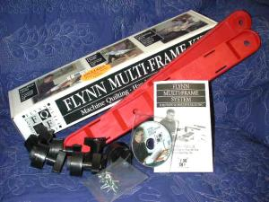 John Flynns, Portable Quilting, Multi Frame, Euro Kit, (Ends & Hardware Only)  WITHOUT ROUND RAILS, for Home Sewing Machines - FREE Video Instructions