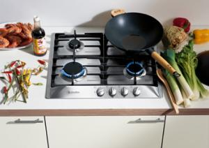 "Miele KM360LP 24"" Gas Cooktop (Linear Design)"