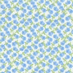 Fabric Finders 15 Yd Bolt 9.34 A Yd 29 Blue Floral 100 percent Pima Cotton 60 inch Fabric