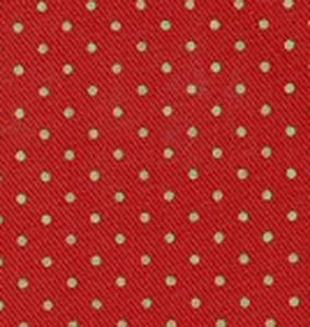 Fabric Finders 15 Yd Bolt 9.34 A Yd  Twill #211 Red With Green Dots 100% Pima Cotton Fabric
