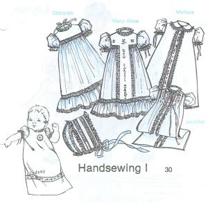Childrens Corner Handsewing1  Pattern, daygowns, christening gowns, slip, bonnet for French sewing by hand or machine, trim with lace, beading, ribbon
