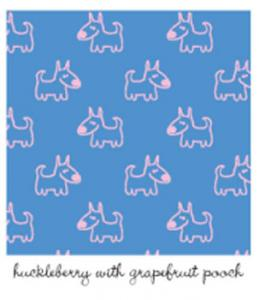Kiwi Embroidery Paper #427 Huckleberry With Grapefruit Pooch 8.5in x 11in Sheet