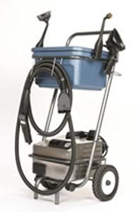 "Euro Steam, ES1900S, Dry Vapor, Steam Cleaner, 12"" inch, 185-316°, 3L, 1600W, 13A, 4.5Bar, 68PSI 12'Hose 14'Cord SILVER: Cart Bucket 12Towels, 13Tools ITALY 25Lb"