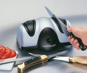 Presto, 08800, Ever Sharp, Electric Knife Sharpener, - Two Stage System, Grinds, then Hones, & Polishes, eversharp