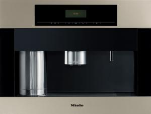 "Miele, Germany, CVA 4062, Whole Bean, Coffee System, 24"" Wide, 500 grams, Grinds 6-12g/ Cup, 2 Spouts, Milk, Hot Water, Stainless steel, Swing Door, Hing Left, Auto Warn, Safe Lock"