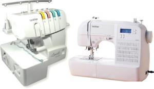 Brother HS-2000, hs2500, hs2000, hs-2500, 70 Stitch, Computer Sewing Machine, HS2000, and 1034D FS, 3&4 Thread, Freearm Serger, - FREE 100 Needles, and 12 Cones 3000 Yard Thread Kit