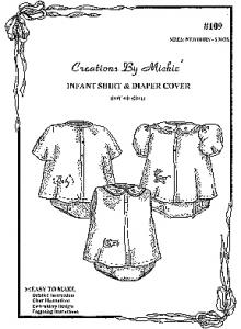 Creations by Michie CB109 Infant Shirt &amp; Diaper Cover Pattern Size NB-6mo