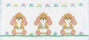 Cross-eyed Cricket  CEC128 Baby Lops Smocking Plate
