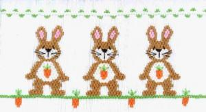 Cross-eyed Cricket CEC125 Carrot Toppers Smocking Plate