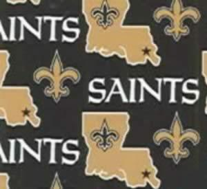 "New Orleans, Saints, NFL, 6267-D_Fleece, 100% Polyester, 60"" Polar Type Fabric, Black, Old Gold and White"