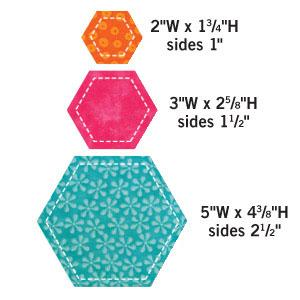 "AccuQuilt Go! 55011 GO! Dies Hexagon-2"", 3"", 5"" Inches"