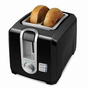 Black &amp; Decker, T2569B, 2 Slice, Toaster, Black, Self Centering, Extra Wide Slots. Frozen, Bagel, &amp; Cancel, Control, Functions, Cord Storage, 13&quot;x8.4&quot;x9&quot;