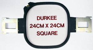 "Durkee PR2424 24cm x 24cm (9""x9"") Square Embroidery Frame Hoop & Brackets for Brother PR600 PR620 PR650 PR1000 Baby Lock EMP6 BMP8 BMP9 ENT10 Machines"