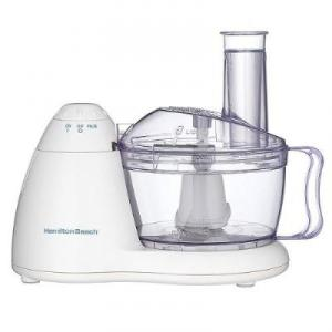 Hamilton Beach, 70450, 6 Cup, Bowl, Food Processor, White, 300W, Space Saver, Pulse, TrueSharp Blades, 1 yr. Warranty