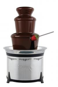 Sephra CF18L-SST 18'' Stainless Steel Classic Fondue Fountain, 6lbs, 6-Piece Tier, Quiet Motor, Viscosity Funnel