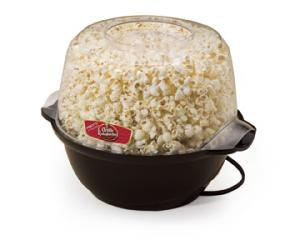 Presto 05201 Orville Redenbachers Stirring Popcorn Popper / Bowl, 6 Quarts, Motorized Arm Stirs Unpopped Kernels, Non Stick, Butter Meter, Clear Lid