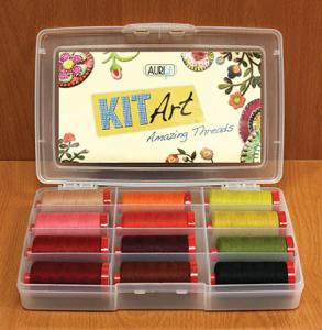 Aurifil CP1212 Cinnamon Patch Thread Kit Art 12, Lana Wool Thread Spools, 50% Wool  50% Acrylic, 12wt, 83 Yard Each - AUSTRALIA &amp; 50% Acrylic, 12wt, 383 Yard