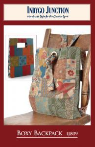 "Indygo Junction IJ809 Boxy Backpack Pattern ,Made From Charm Packs or 5"" Squares"