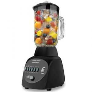 Black & Decker BL10450HB Crush Master 10-Speed Blender - Black, 450Watt Countertop Blender, Push Button Controls, 10 Speed Settings, 42oz Blending Jar, Motor Overheat Protection, Fast Clean, Dishwasher Safe