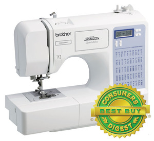 Brother CS5055PRW, ce5500, Project Runway, 50/87 Stitches, LCD Computer Sewing Machine, 5x1Step Buttonholes, Theader, Top Bobbin, Drop Feed, Free Motion, 11 Pounds