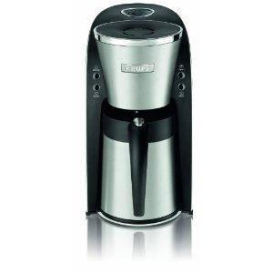 Krups KT720D50 10 Cup Thermal Filter Coffee Maker, 40oz Stainless Steel Thermal Jug, Removable Transparent Water Tank, Pause and Serve Feature, 950W, Auto Shut Off, Illumination