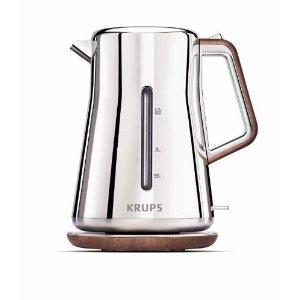 Krups BW600 Silver Art Collection 2 Quart Kettle, Outside Water Level Indicator,360 degree Roatational Base,Anti-scale Filter,Auto and Manual Shut Off