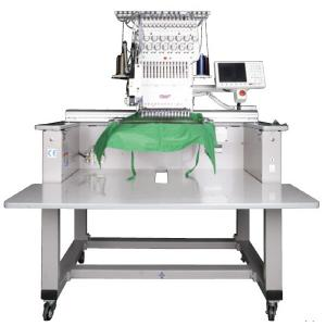 "SWF E-T1501 15Needle Single Head Automatic Embroidery Machine & Stand, 20.47x14.17"" Sewing Area, 14.17x2.95"" Caps 14Hoops, 1200RPM, 4MillionStitch USB"