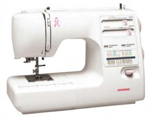 Janome, MS5027PR, MS5027LE, Pink Ribbon, Mechanical Sewing Machine, 27 Stitches, 1 Step Buttonhole, 7mm Stitch Width Length, Threader, Walking Foot,  ,1/4,Quilt Seam, 6 Feet