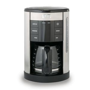 Master Chef MCCM12D Digital Stainless Steel Coffeemaker - 12 Cup, Timer, Coffee Strength Setting, Auto Shut Off, Pause & Serve, Blue LED Display