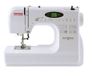 JP720 , JNH720, jem platinum, Janome, JNH720, Jem, 20 Stitch, Computer, Sewing Machine LED, 2x1Step buttonholes, Start Stop, Memory Needle Stop Up Down, Speed Limit, Top Load, Drop Feed, Threader  Case, 12 Lbs