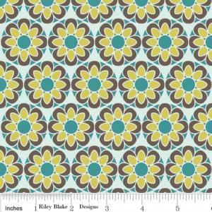 Riley Blake Designs C2701 Blue So Sophie Petal 15Yd Bolt 7.34 A Yd 100% Cotton 45&quot;Fabric