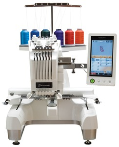 "Brother PR650E Store Demo, 6 Needle 8x12"" Embroidery Machine, Metal Roller Stand, Cap Equipment, 5 Hoops, 68 Fonts, 3USB Ports, Replaced by PR650E"