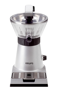 "Krups ZX700042 Stainless Steel Citrus Press 11x7x13""H, 130W, Manual & Automatic, Motor Lever, Pulp Filter, No Drip Spout, Drip Tray, Washer Safe Parts"
