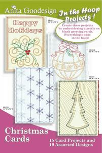 Anita Goodesign 6 Christmas In the Hoop Collections Multi-format Embroidery Design Pack on CD