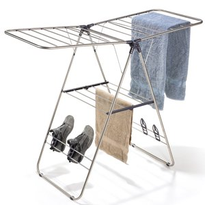 Polder Collapsible Indoor/Outdoor Y Laundry Drying Rack, Stainless Steel DRY-4030-75